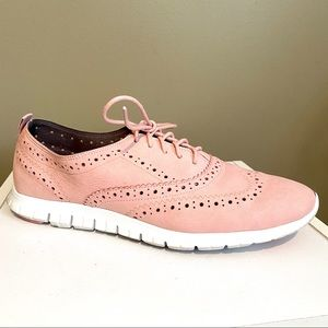 Cole Haan Women's Pink Leather Zerogrand Oxfords